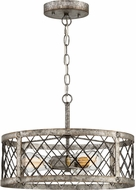 Quoizel BH1717RG Booth Contemporary Rustic Gold 17.5  Hanging Light