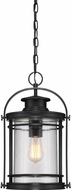 Quoizel BKR1910K Booker Mystic Black Outdoor Pendant Lighting Fixture