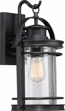 Quoizel BKR8408KFL Booker Mystic Black Fluorescent Exterior 9  Light Sconce