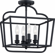 Quoizel BLA1714MBK Blanche Matte Black Home Ceiling Lighting