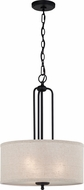 Quoizel BLA2816MBK Blanche Matte Black Drum Lighting Pendant