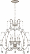 Quoizel BLC5005AWH Blanca Traditional Antique White Mini Ceiling Chandelier