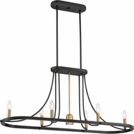 Quoizel BLD642DC Ballard Contemporary Dark Cherry Halogen Island Light Fixture