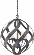 Quoizel BMS2826OK Blacksmith Contemporary Old Black 26  Hanging Pendant Light