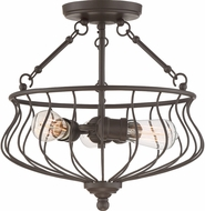Quoizel BNS1715WT Baroness Western Bronze Flush Lighting