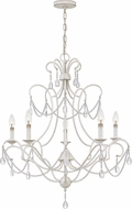 Quoizel BRA5029AWH Bray Traditional Antique White Ceiling Chandelier
