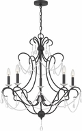 Quoizel BRA5029EK Bray Traditional Earth Black Hanging Chandelier