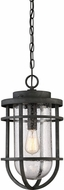 Quoizel BRD1910MB Boardwalk Modern Mottled Black Outdoor Pendant Hanging Light