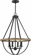 Quoizel BRL2823EK Bartlett Earth Black 22  Hanging Lamp