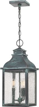 Quoizel BRS1909AGV Branson Traditional Aged Verde Outdoor Hanging Light