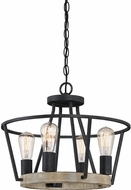 Quoizel BRT1717GK Brockton Modern Grey Ash Mini Chandelier Lamp