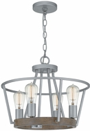 Quoizel BRT2817BSR Brockton Contemporary Brushed Silver Pendant Light