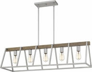 Quoizel BRT542BSR Brockton Contemporary Brushed Silver Island Lighting