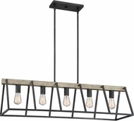 Quoizel BRT542GK Brockton Modern Grey Ash Kitchen Island Light Fixture