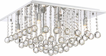 Quoizel BRX1620C Bordeaux With Clear Crystal Polished Chrome Xenon Overhead Lighting