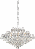 Quoizel BRX2820C Bordeaux w/ Clear Crystal Polished Chrome Xenon 20  Lighting Pendant
