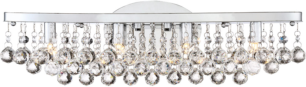 Quoizel Brx8604c Bordeaux W Clear Crystal Polished Chrome Led 23 Lighting For Bathroom