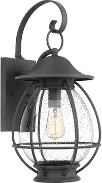 Quoizel BST8411MB Boston Mottled Black Exterior 10.5  Wall Sconce Lighting