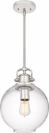 Quoizel BTO1510PK Britton Contemporary Polished Nickel Mini Pendant Lighting Fixture