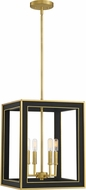 Quoizel BUR5214MBK Burwell Matte Black Foyer Light Fixture