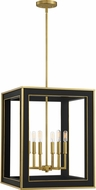 Quoizel BUR5218MBK Burwell Matte Black Foyer Lighting Fixture
