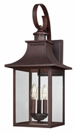 Quoizel CCR8410CU Chancellor 3 Lamp Transitional Copper Bronze Outdoor Sconce Lighting