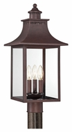 Quoizel CCR9010CU Chancellor Copper Bronze 22 Inch Tall Exterior Transitional Lighting Post