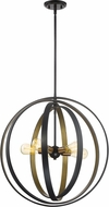 Quoizel CCT2824WT Circuit Contemporary Western Bronze 24  Drop Ceiling Light Fixture