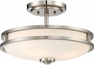 Quoizel CDT1715BN Cadet Contemporary Brushed Nickel 15  Ceiling Light Fixture