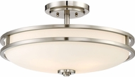 Quoizel CDT1719BN Cadet Contemporary Brushed Nickel 19.25  Ceiling Light Fixture
