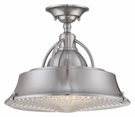 Quoizel CDY1714BN Cody Semi Flush Mount Brushed Nickel Ceiling Light Fixture