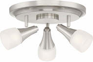 Quoizel CFN1612BN Crofton Modern Brushed Nickel LED Flush Mount Lighting