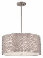 Quoizel CKCF2822OS Confetti Large 22 Inch Diameter Old Silver Finish Drum Pendant Light