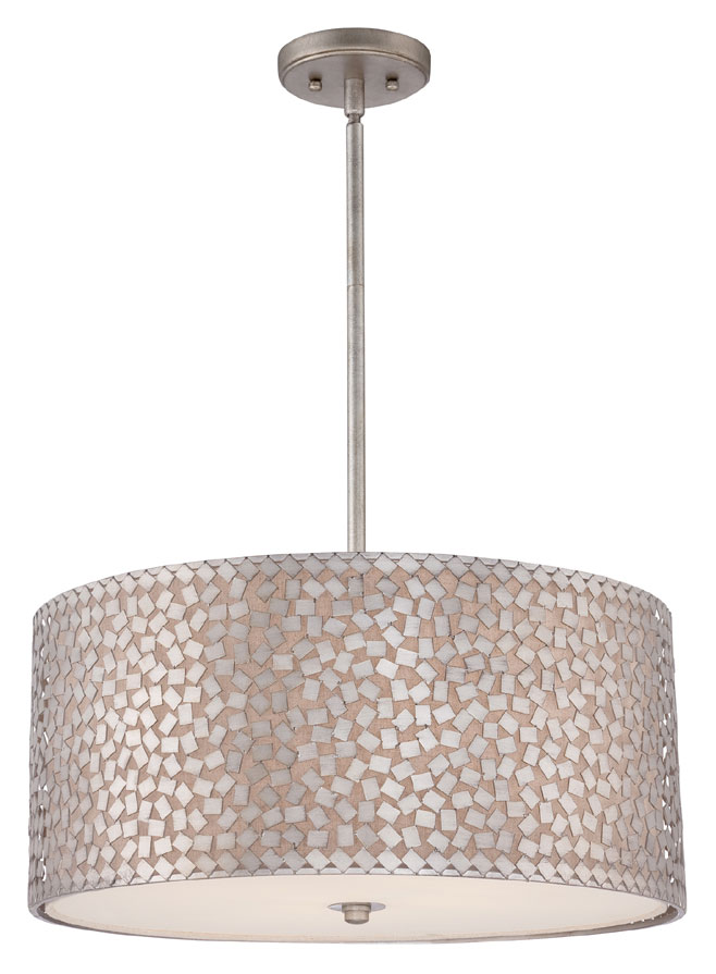 Quoizel Ckcf2822os Confetti Large 22 Inch Diameter Old Silver Finish Drum Pendant Light Loading Zoom