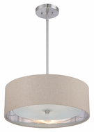 Quoizel CKMO2820BN Metro Transitional 20 Inch Diameter Pendant Drum Light - Brushed Nickel