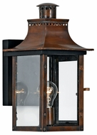 Quoizel CM8408AC Chalmers Traditional Small 1-Light Copper Outdoor Lantern Wall Sconce