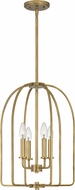 Quoizel COL5214WS Cornell Weathered Brass Foyer Light Fixture