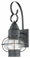 Quoizel COR8410K Cooper Medium Seedy Glass Black Lantern Nautical Outdoor Sconce