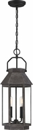 Quoizel CPB1909SPB Campbell Speckled Black Exterior Lighting Pendant