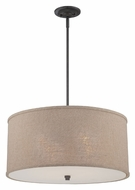 Quoizel CRA2822MC Cloverdale Mottled Cocoa Finish Large Pendant Drum Light