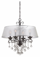 Quoizel CRE5004FR Carrabelle 24 Inch Diameter French Bronze Hanging Chandelier