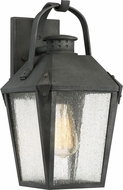 Quoizel CRG8408MB Carriage Traditional Mottled Black Outdoor 8  Lamp Sconce