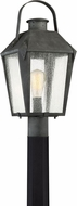 Quoizel CRG9010MB Carriage Traditional Mottled Black Outdoor Post Lamp