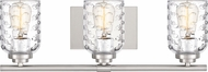 Quoizel CRI8603BN Cristal Contemporary Brushed Nickel 3-Light Bathroom Lighting Fixture