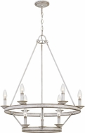 Quoizel CRL5009AWH Corral Modern Antique White Ceiling Chandelier