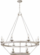 Quoizel CRL5012AWH Corral Contemporary Antique White Hanging Chandelier