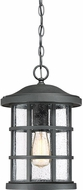 Quoizel CSE1910EK Crusade Earth Black Outdoor Pendant Lamp