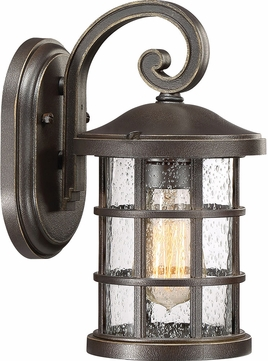 Quoizel CSE8406PN Crusade Palladian Bronze Outdoor 6  Lighting Wall Sconce