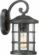 Quoizel CSE8408EK Crusade Earth Black Outdoor 8  Wall Lighting Sconce
