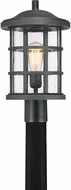 Quoizel CSE9010EK Crusade Earth Black Outdoor Lamp Post Light